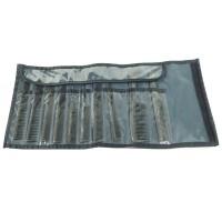 Hercules Sägemann 10er Kamm Set schwarz / Tasche grau