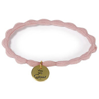 "Great Lengths Hair Tie twisted Rose ""You are Great"""