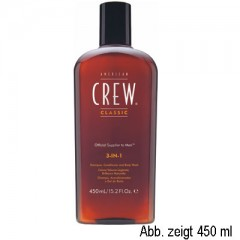American Crew 3-in-1 Shampoo, Conditioner & Bodywash