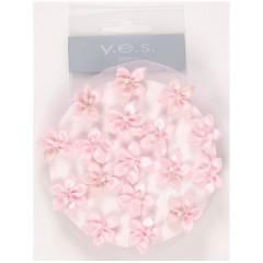 Solida Knotennetz mit Blüten und Perlen rosa