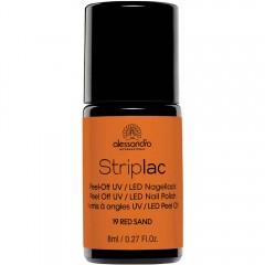 alessandro International Striplac 19 Red Sand 8 ml