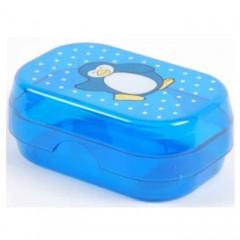 Solida Kinderseifendose Pinguin, blau