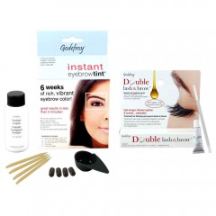 GODEFROY Instant Eyebrow Tint Natural Black + Double Lash & Brow