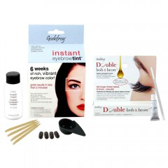 GODEFROY Instant Eyebrow Tint Natural Dark Brown + Double Lash & Brow