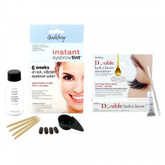 GODEFROY Instant Eyebrow Tint Medium Brown + Double Lash & Brow