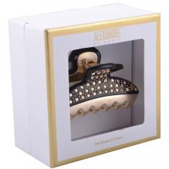 Alexandre de Paris Pince Vendôme Medium mit Strass in Geschenkebox