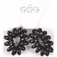 Solida XXL-Spiralzopfgummis schwarz 2 Stück