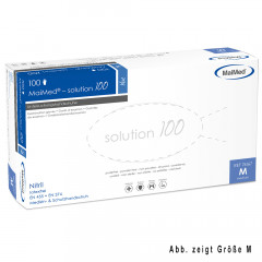 MaiMed Solution 100 Nitril 100 Stück Blau  Gr. XL