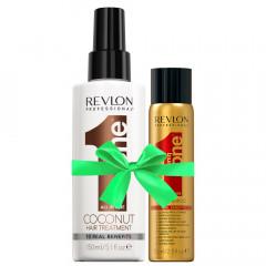 Revlon Uniq One Coconut Treatment 150 ml +  Gratis Dry Shampoo 75 ml