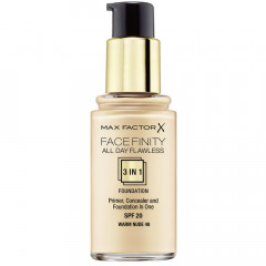 Max Factor Face Finity 3-In-1 Foundation 48 Warm Nude 30 ml