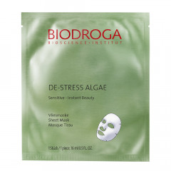 Biodroga De-Stress Algae Sensitive Vliesmaske 1 Stk.