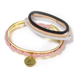 "Great Lengths Hair Tie Cuff Gold ""You are Great"""