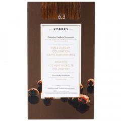 Korres Argan Oil Hair Colorant 6.3 Dunkelblond Gold