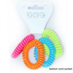 Solida Zopfabbinder Telefonkabel bunt sortiert, 4 Stück