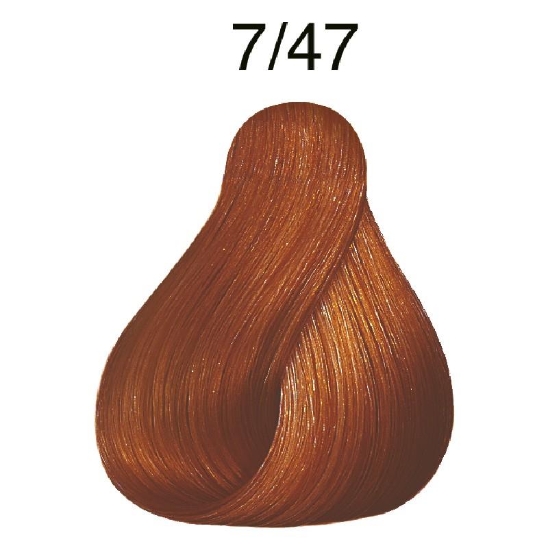 Wella koleston 7/47 Mittelblond rot-braun