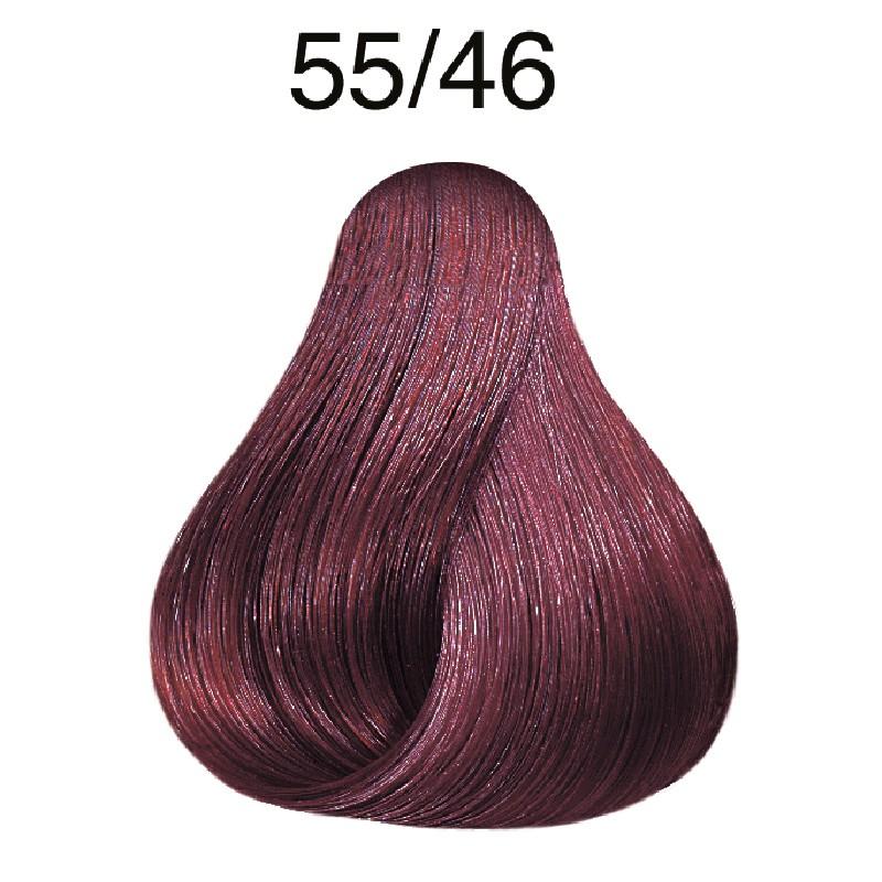 Wella koleston 55/46 hellbraun intensiv rot-violett