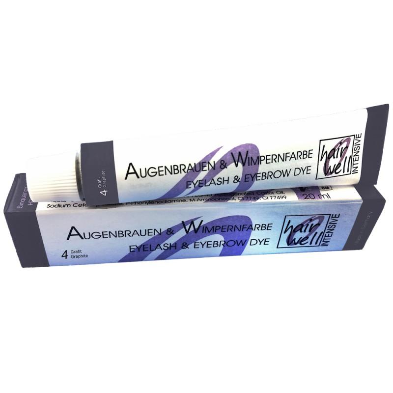Hairwell Augenbrauen- und Wimpernfarbe Nr. 4 Grafit 20 ml