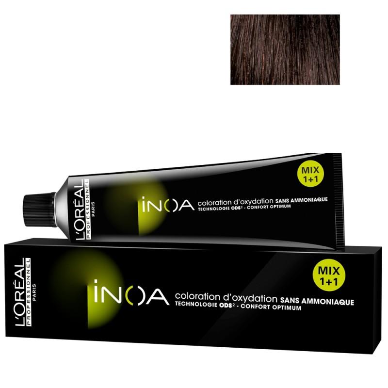 L'Oréal Professionnel INOA 4,15 mittelbraun asch mahagoni 60 ml