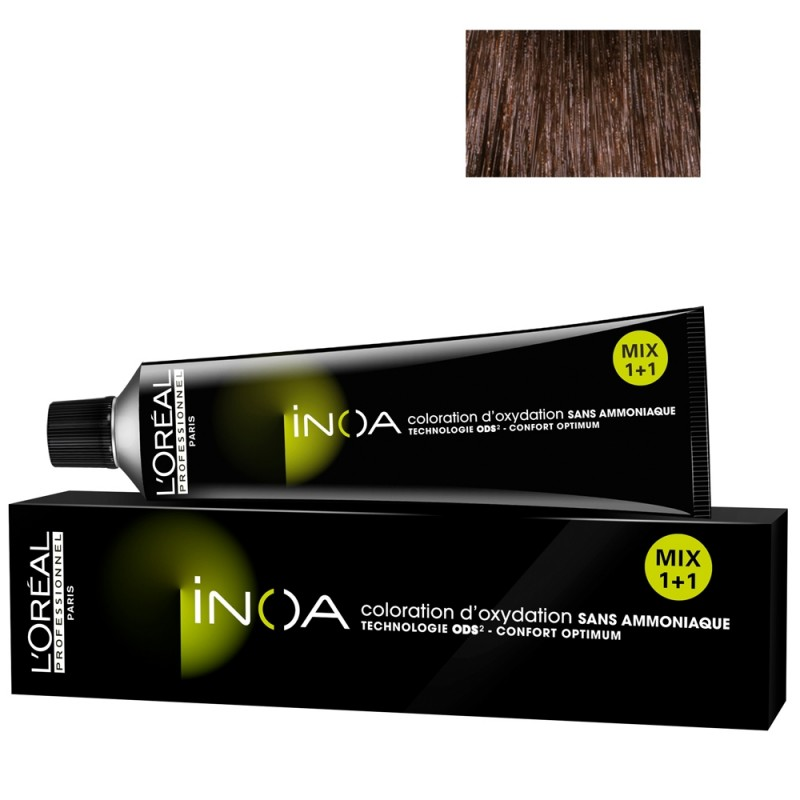 L'Oréal Professionnel INOA 4,35 mittelbraun gold mahagoni 60 ml