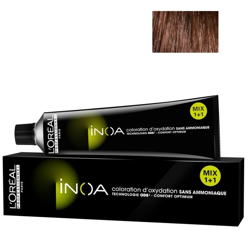 L'Oréal Professionnel INOA 5,45 hellbraun kupfer mahagoni 60 ml
