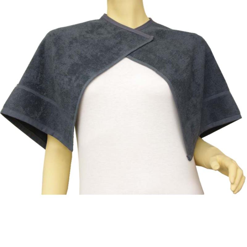 Beautytex Halsausschnitt-Handtuch Anthrazit 50 x 90 cm