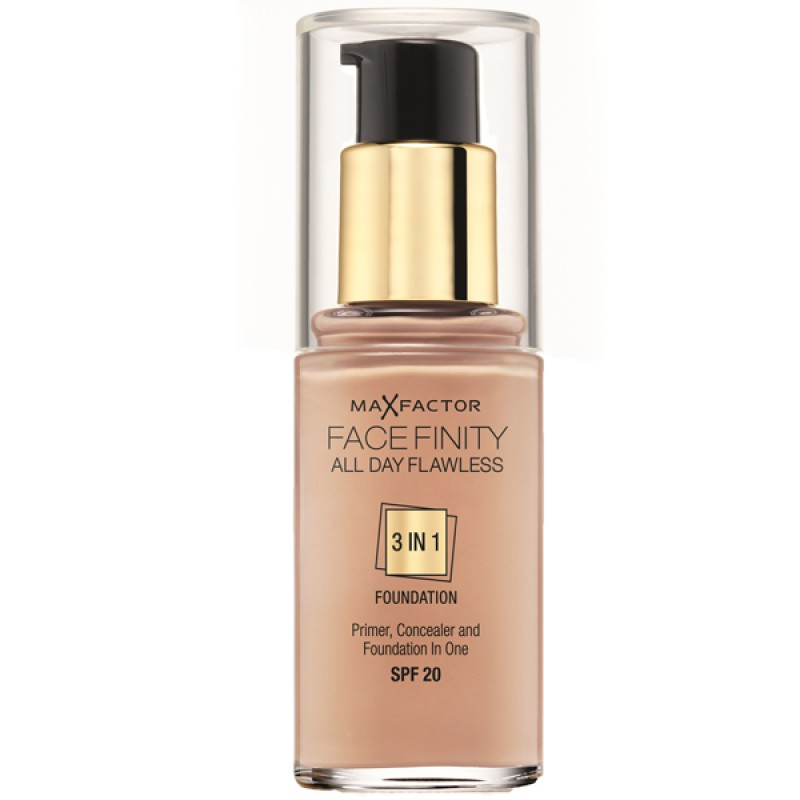 Max Factor Face Finity All Day Flawless 3 in 1 Foundation 50 Natural 30 ml