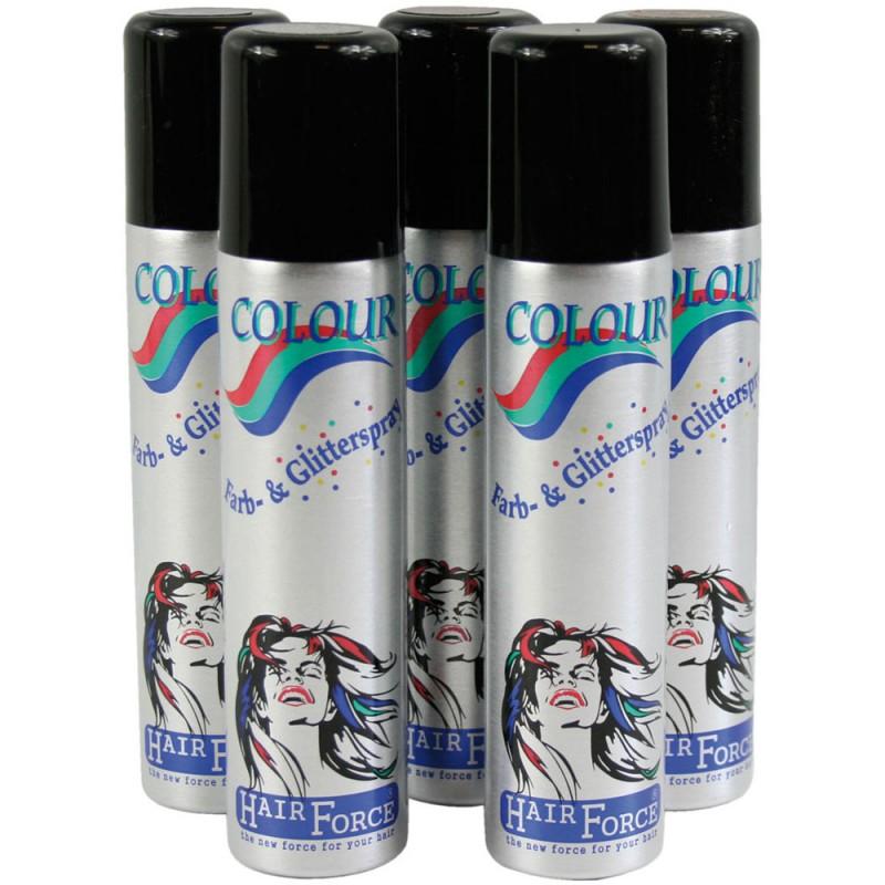Hairforce Color Glitterspray blau 75 ml