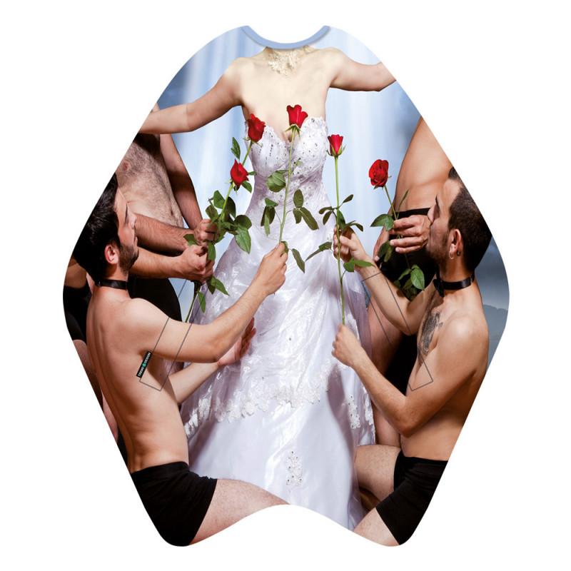 Trend-Design Haarschneideumhang Beauty Queen