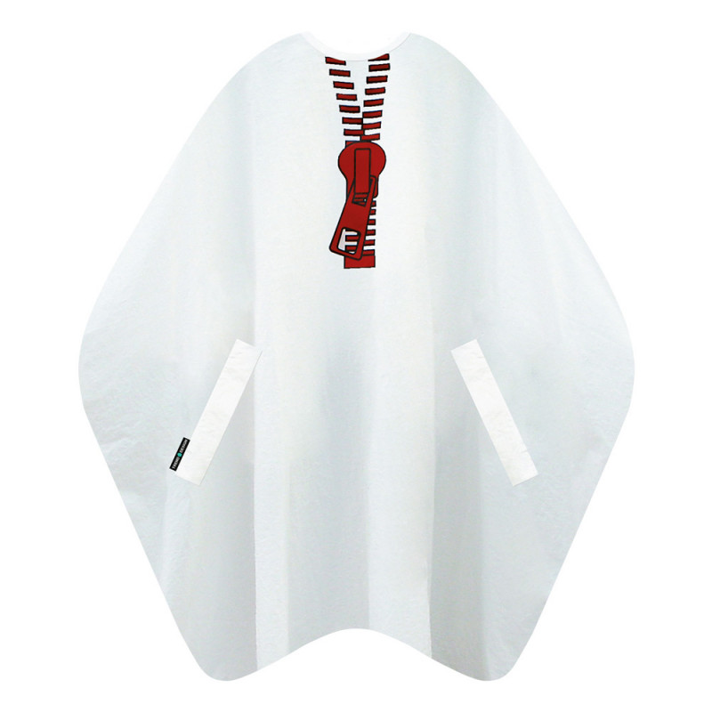 Trend-Design Zipper Schneideumhang Weiß