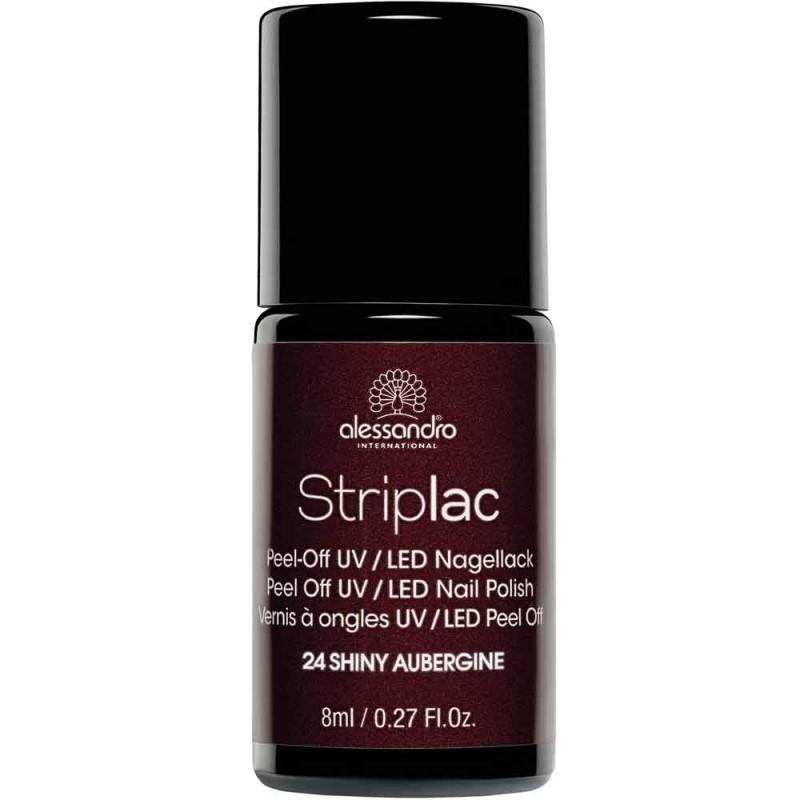 alessandro International Striplac 24 Shiny Aubergine 8 ml