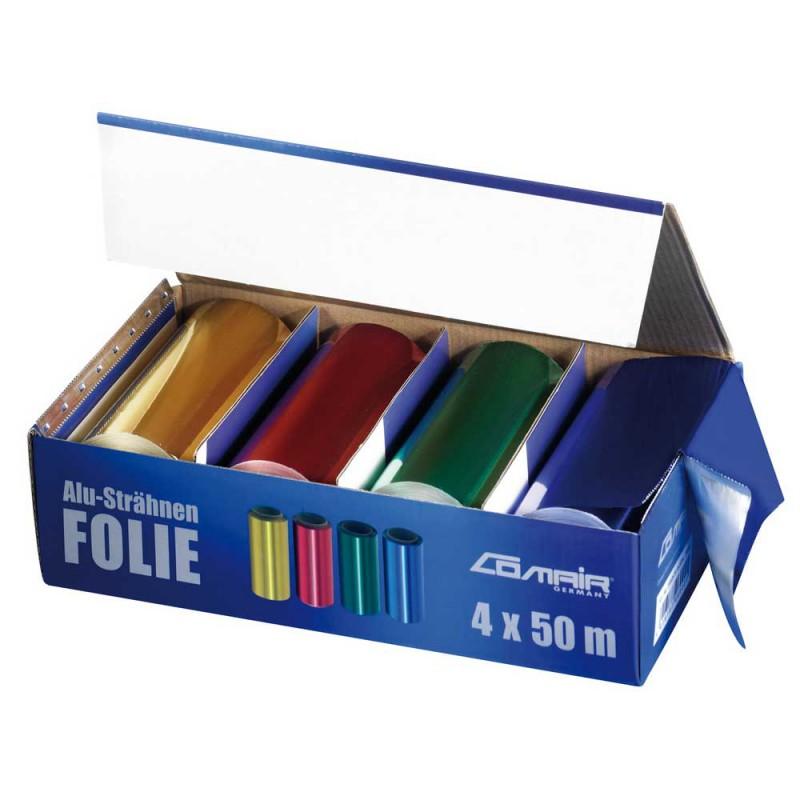 Comair Alu-Strähnen-Folie 4 Rollen á 12 cm x 50 m 24 my
