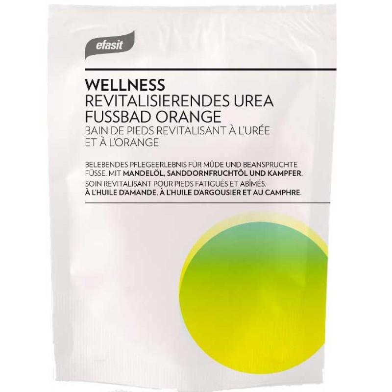 efasit WELLNESS Revitalisierendes Urea Fußbad Orange 40 g