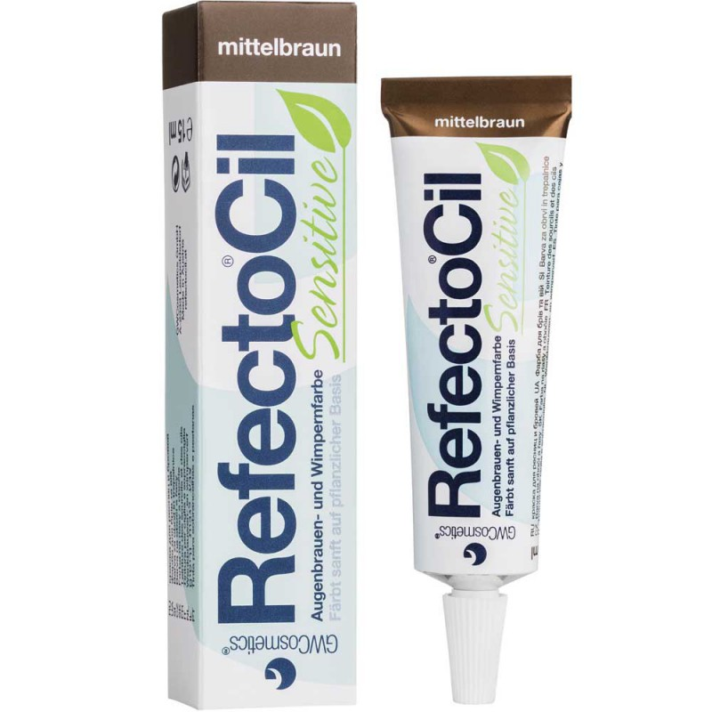Refectocil Sensitive Augenbrauen- und Wimpernfarbe mittelbraun 15 ml