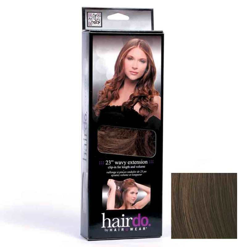 Hairdo Haarteil Clip in Wavy Extension R6 Chocolate 55 cm
