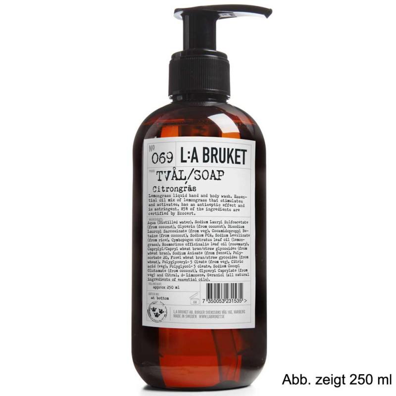 L:A BRUKET No. 69 Liquid Soap Lemongrass 450 ml