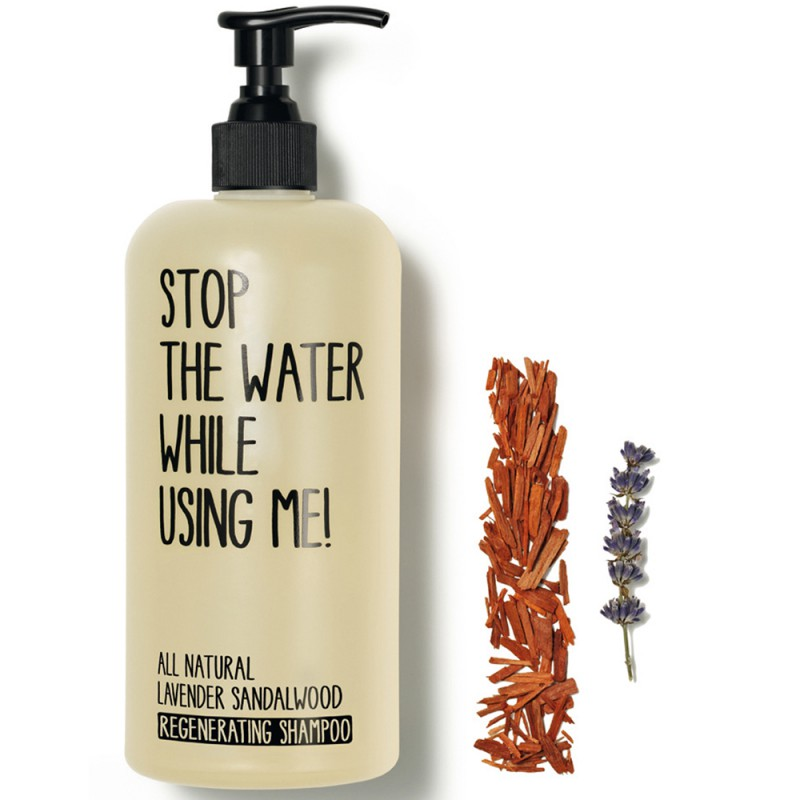 Stop the water while using me! All natural Lavender Sandalwood Regenerating Shampoo 200 ml