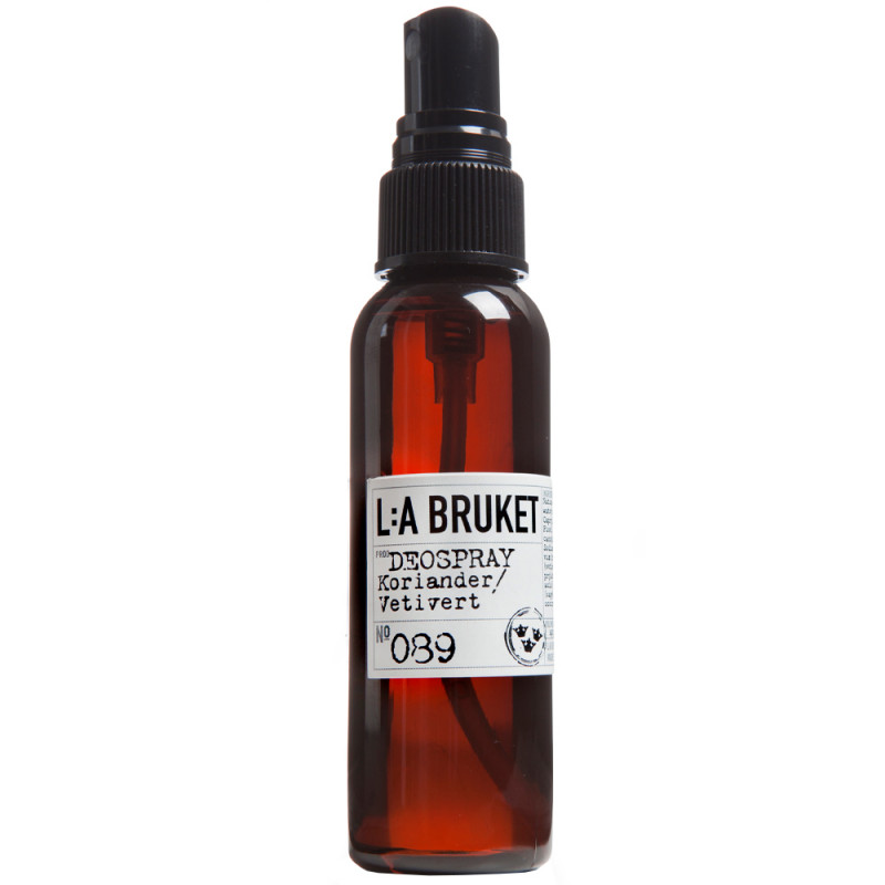 L:A BRUKET No.89 Deo. Spray Coriander/Vetiver 60 ml