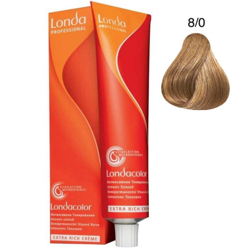 Londa Demi-Permanent Color Creme 8/0 Hellblond 60 ml