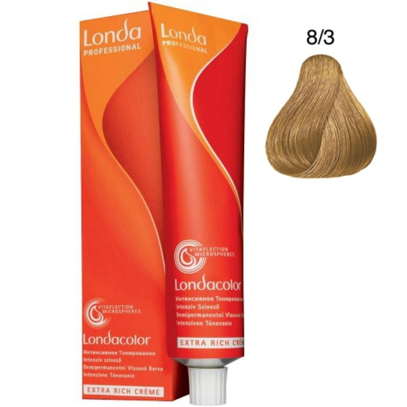 Londa Demi-Permanent Color Creme 8/3 Hellblond Gold 60 ml