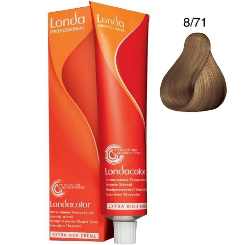 Londa Demi-Permanent Color Creme 8/71 Hellblond Braun-Asch 60 ml