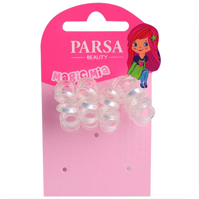 PARSA Beauty Spiral-Haargummis 4 Stück