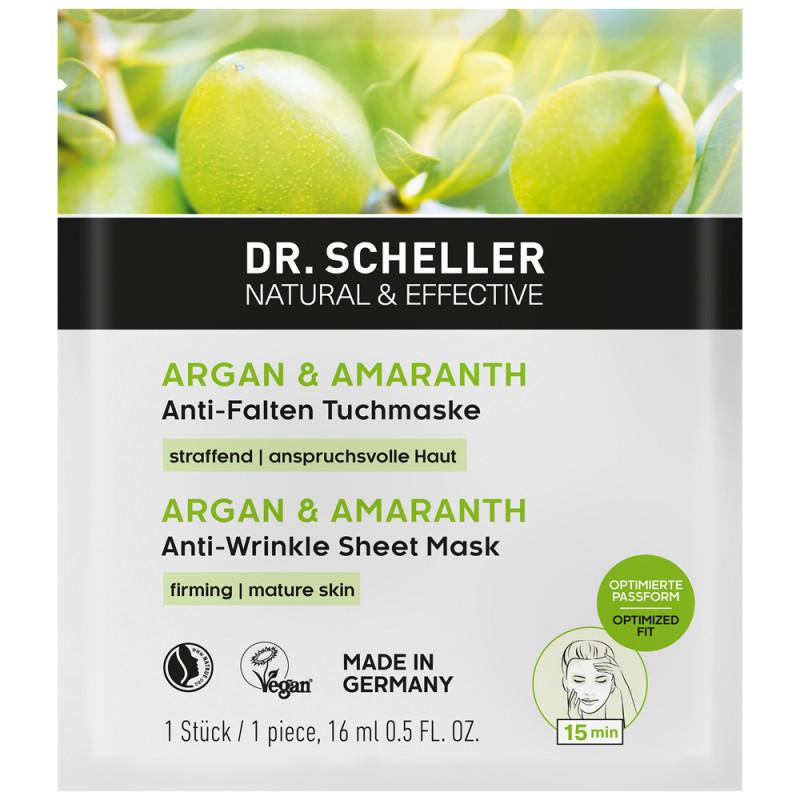 Dr. Scheller Argan & Amaranth Anti Falten Tuchmaske 16 ml