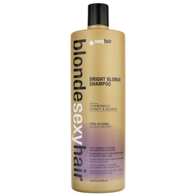 Sexy Hair Bright Blonde Shampoo 1000 ml