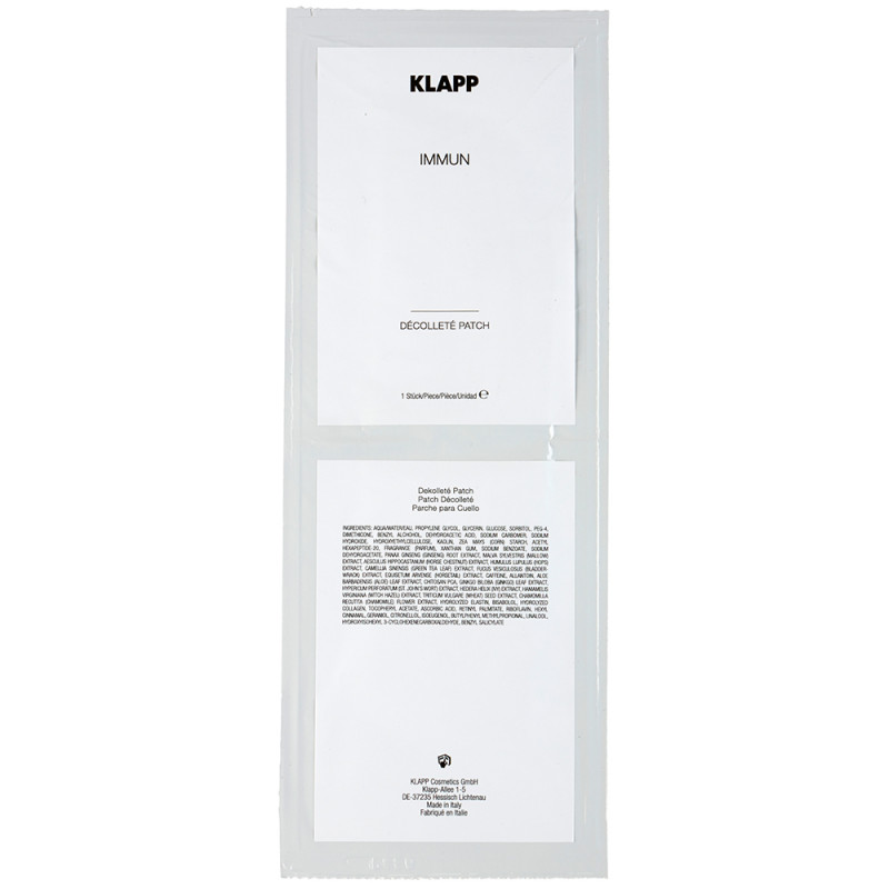 Klapp Cosmetics Immun Décolleté Patch 1 Stk.