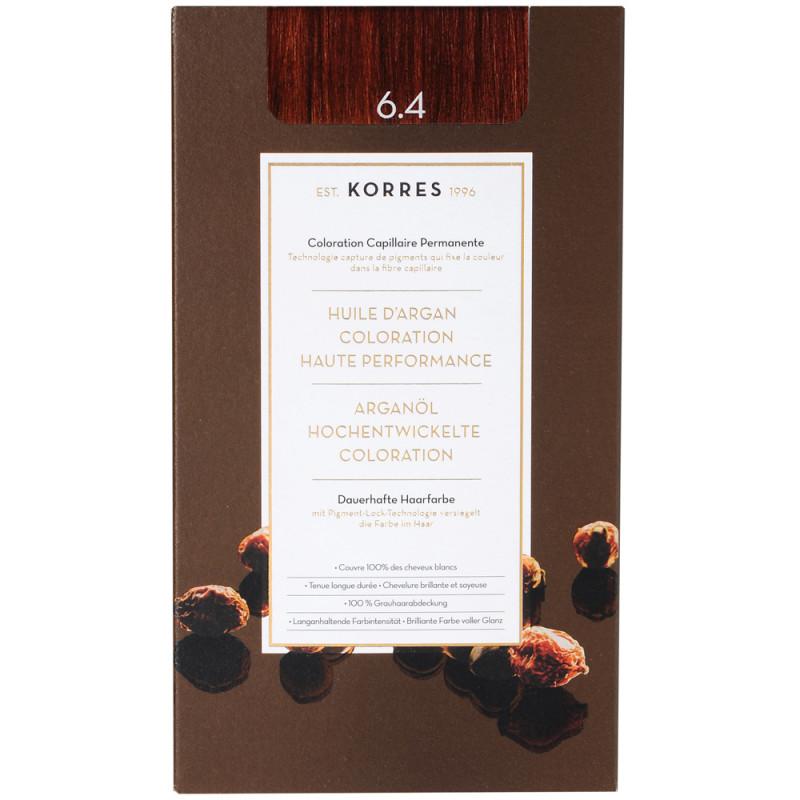 Korres Argan Oil Hair Colorant 6.4 Dunkelblond Kupfer
