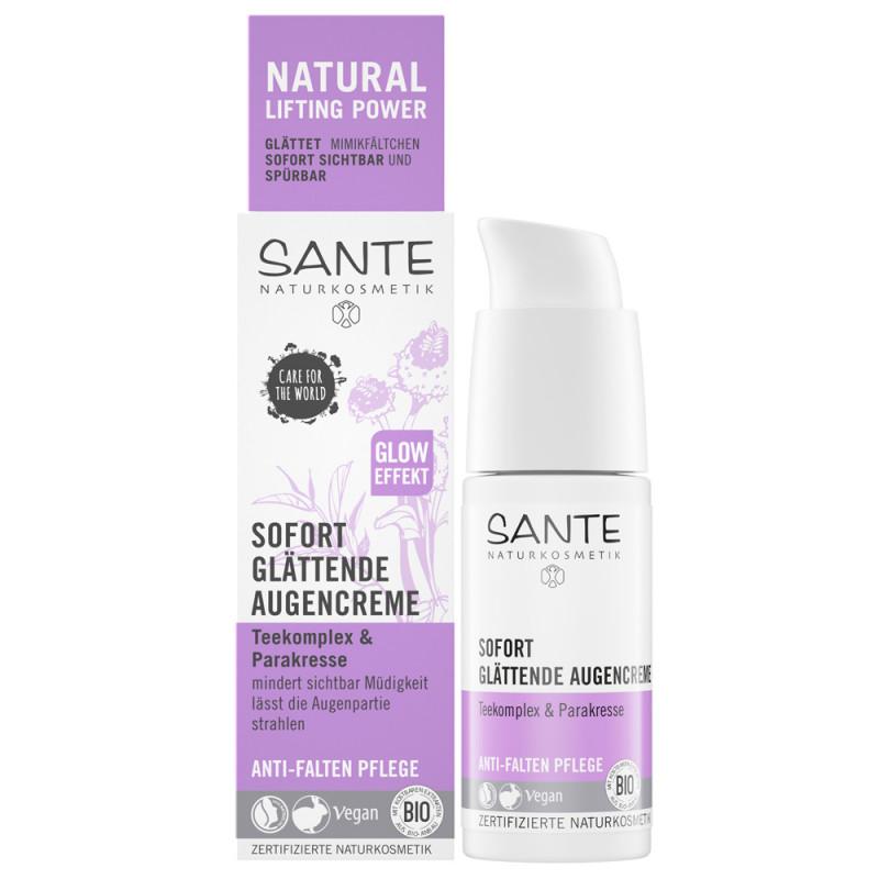 SANTE Sofort glättende Augencreme Teekomplex & Parakresse 15 ml
