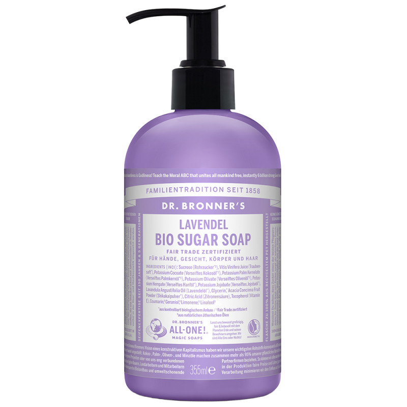 Dr. Bronner's Bio Sugar Soap Lavendel 355 ml