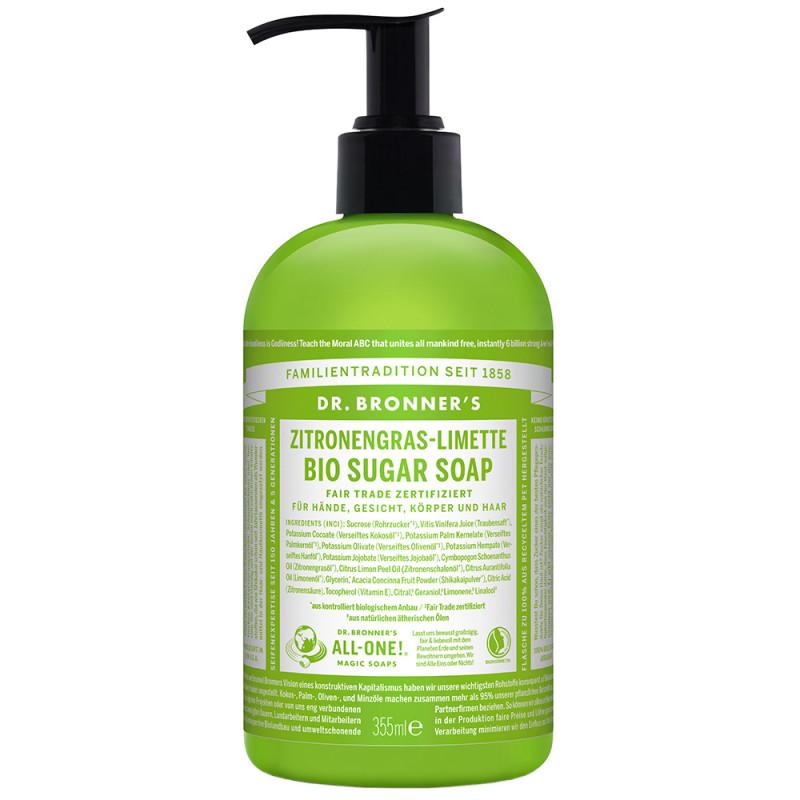 Dr. Bronner's Bio Sugar Soap Zitronengras-Limette 355 ml