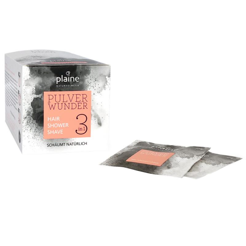 Plaine Pulverwunder 3-in-1 Hair, Shower, Shave 30 x 3 g