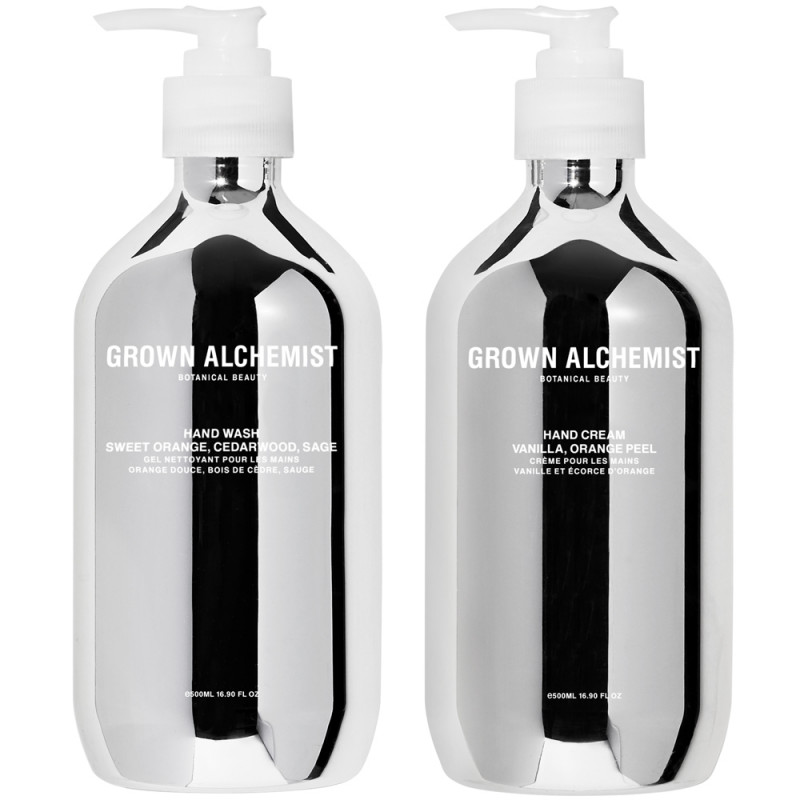 Grown Alchemist Hand Wash & Hand Cream Silver Set 500 ml
